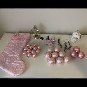 Pink Parisian-style Christmas Decor Bundle